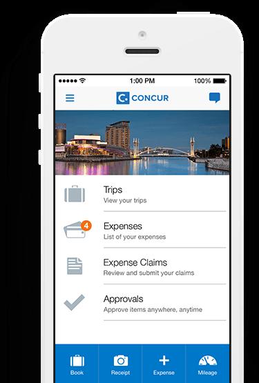 concur expense mobile app